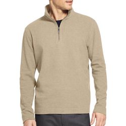 Van Heusen Mens Heathered Fleece Quarter Zip Sweater