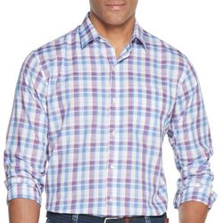 Van Heusen Mens Plaid Woven Long Sleeve Shirt