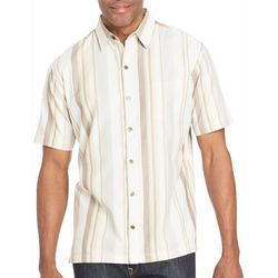 Van Heusen Mens Big & Tall Striped Button Down Shirt