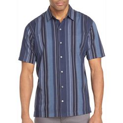 Van Heusen Mens Big & Tall Stripe Print Button Down Shirt