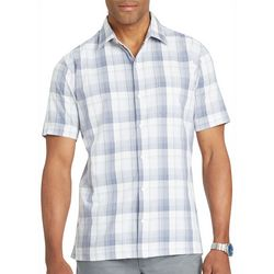Van Heusen Mens Big & Tall Check Plaid Short Sleeve Shirt