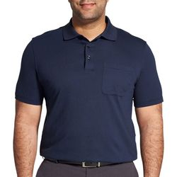 Van Heusen Mens Big & Tall Jacquard Stripe Polo Shirt