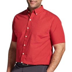 Van Heusen Mens Big & Tall Wrinkle Free Grid Print Shirt