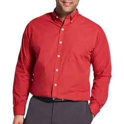 Van Heusen Mens Big & Tall Wrinkle Free Grid Shirt