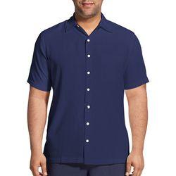 Van Heusen Mens Big & Tall Texture Stripe Short Sleeve Shirt