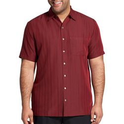 Van Heusen Mens Big & Tall Texture Stripe Short Sleeve Shirt
