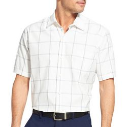 Van Heusen Mens Air Windowpane Plaid Shirt