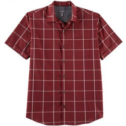 Van Heusen Mens Air Plaid Woven Short Sleeve Shirt