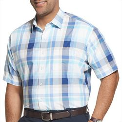 Van Heusen Mens Big & Tall Plaid Print Shirt