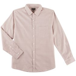 Haggar Mens Tuckless Trellis Long Sleeve Shirt