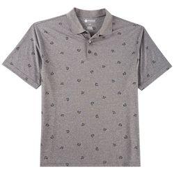 Haggar Mens Shark Print Polo Shirt