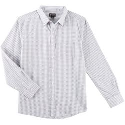 Haggar Mens Tuckless Plaid Long Sleeve Shirt