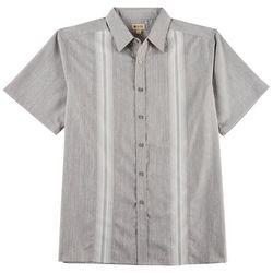 Haggar Mens Micro Stripe Short Sleeve Shirt