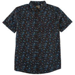 Haggar Mens Shark Print Short Sleeve Shirt