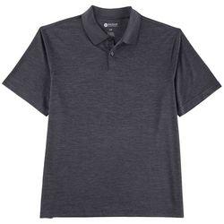 Haggar Mens Heathered Short Sleeve Polo Shirt