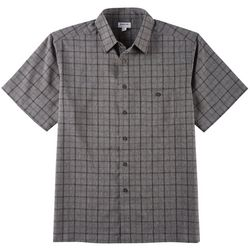 Haggar Mens Cool 18 Pro Woven Plaid Short Sleeve Shirt