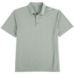 Haggar Mens Dot Print Polo Shirt