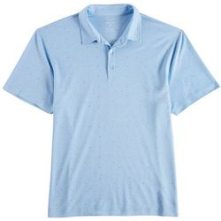 Haggar Mens Dot Print Polo Shirt