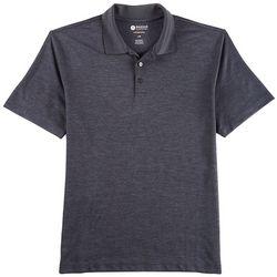 Haggar Mens Stretch Marled Polo Shirt