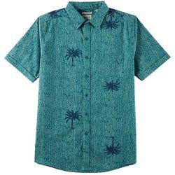 Van Heusen Mens Island Ease Palm Print Shirt