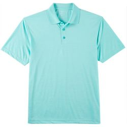 Haggar Mens Cool 18 Stretch Marled Polo Shirt