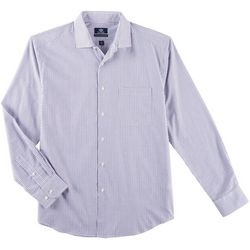Dockers Mens Grid Woven Long Sleeve Shirt