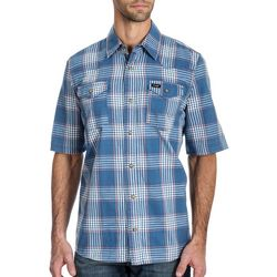 Wrangler Mens Western Plaid Snap Up Long Sleeve Shirt