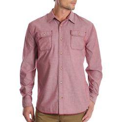 Wrangler Mens Stretch Denim Long Sleeve Shirt