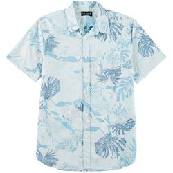Ocean Current Mens Palm Print Woven Shirt
