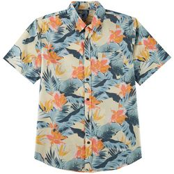 Ocean Current Mens Sea Major Woven Short Sleeve Shirt