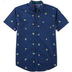 Drill Clothing Mens Avacado Print Poplin Short Sleeve