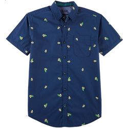 Drill Clothing Mens Avacado Print Poplin Short Sleeve Shirt