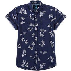 Good Vibes Mens Palms Print Shirt