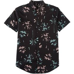 Raw Yarn Industries Mens Palms Tree Print Shirt