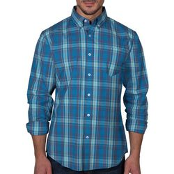 Lee Mens Elijah Plaid Button Up Long Sleeve Shirt