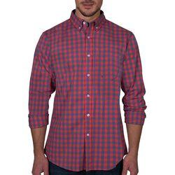Lee Mens Elijah Gingham Button Down Long Sleeve Shirt