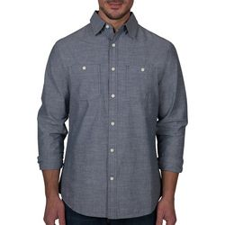 Lee Mens Jackson Chambray Button Down Long Sleeve Shirt