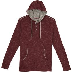 Lee Mens Vincent Heathered Henley Hoodie
