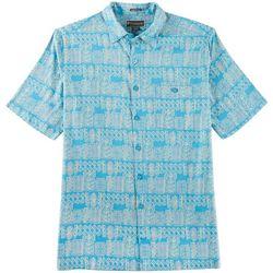 Weekender Mens Tropic Forest Pocket Short Sleeve Shirt