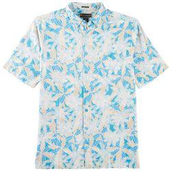Weekender Mens Leaf Canopy Pocket Short Sleeve Shirt