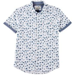 Burnside Mens Surfside Print Shirt