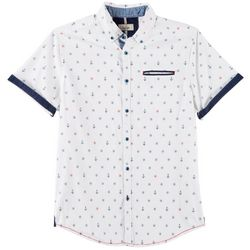Burnside Mens Captain Print Short Sleeve Shirt