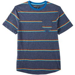 Distortion Mens Striped Crew Neck T-Shirt