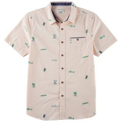 Distortion Mens Surf Print Shirt