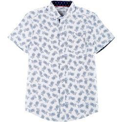Modextil Mens Pineapple Micro Touch Button Down Shirt