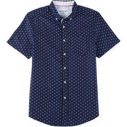Modextil Mens Anchor Micro Touch Button Down Shirt
