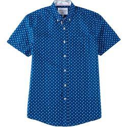 Modextil Mens Palm Tree Micro Touch Button Down Shirt