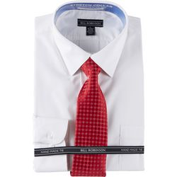 Bill Robinson Mens Regular Fit Dress Shirt &