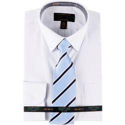 Alexander Julian Mens Dress Shirt & Diagonal Stripe Tie Set