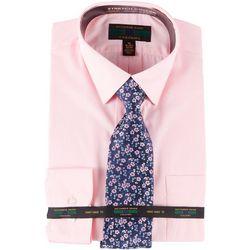 Alexander Julian Mens Dress Shirt & Floral Tie